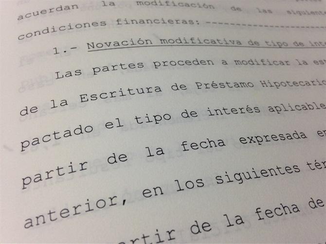 NOVACIONES EN PRÉSTAMOS HIPOTECARIOS CON CLÁUSULA SUELO.