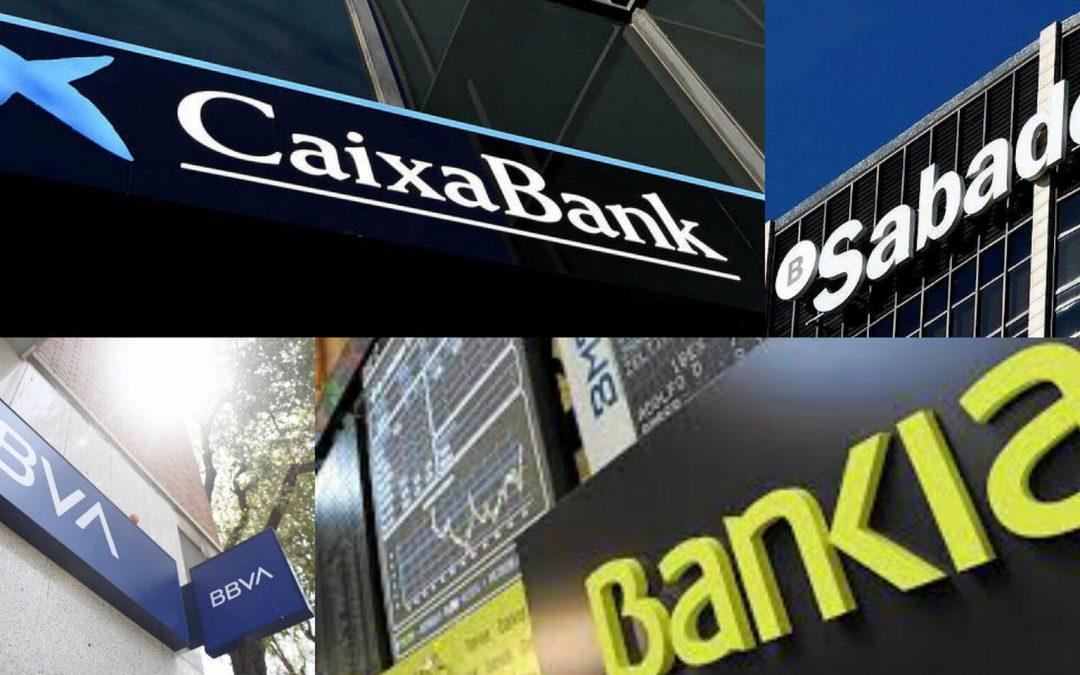 Los bancos más expuestos al IRPH. CaixaBank, Santander, BBVA, Bankia, Sabadell y Unicaja